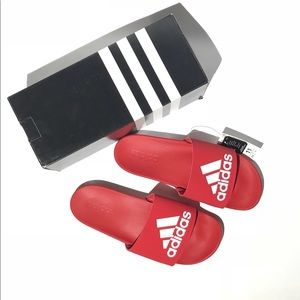 e4ab92e8b adidas Shoes - NWT Adidas Red Slide Sandals Men s Size 11